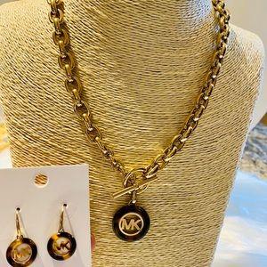 Michael Kors Fulton Toggle Necklace & Earrings